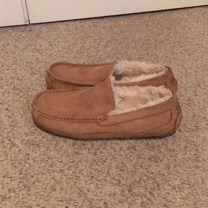 Ugg Tan Ascot Sheepskin Loafer Slipper Shoes 10